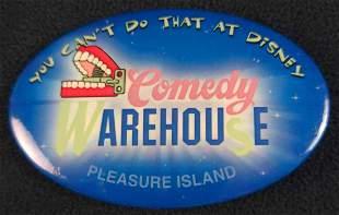 Rare Disney Comedy Warehouse Button