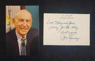 Autographed Photo and Signed Note Jack Ramsey