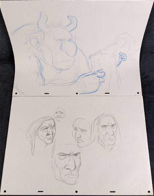 2 Original Disney Artist Drawn Animation Production