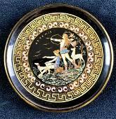 "Artemis ""God of Hunting"" Small Greek Plate 24K Gold"
