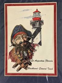 Blackbeard St Augustine Florida Souvenir Print