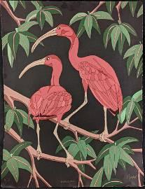Limited Edition Scarlet Ibis Serigraph Dan Goad