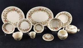 Vintage Windsorware Margaret Rose Brown Dinnerware