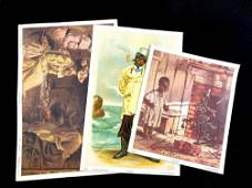 Set of (3) African American Themed Prints Circa 1980's
