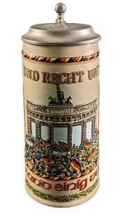 German Reunification Beer Stein 1990 BMF