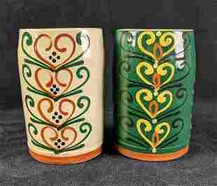 Spanish Hand Painted Mugs Pottery