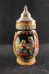 Vintage Corzelius Beer Stein Hand Painted
