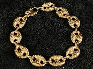 Vintage Designer ITAOR Vermil Gold Over Sterling Chunky
