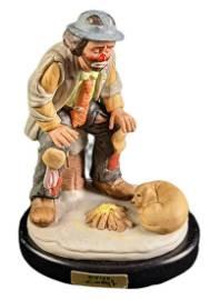 Emmett Kelly Jr Clown Porcelain Limited Edition Winter