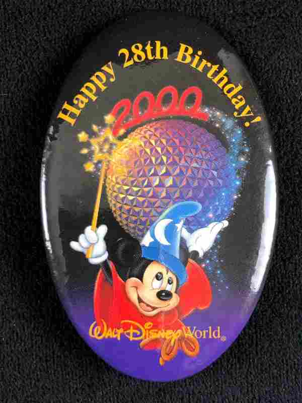 Walt Disney World Happy 28th Birthday Pin 2000 Mickey