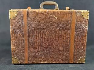 Vintage Faux Alligator Skin Suitcase