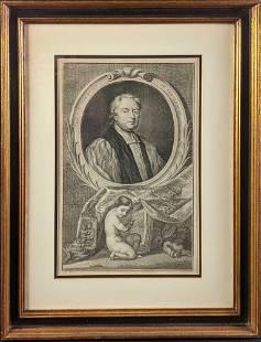 Framed Engraving John Tillotson Archbishop of