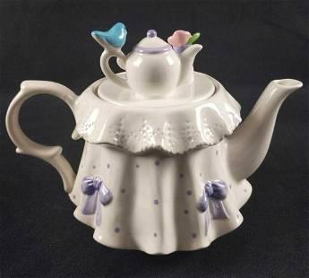 Teleflora Tea Party Ceramic Tea Pot Flower Pot