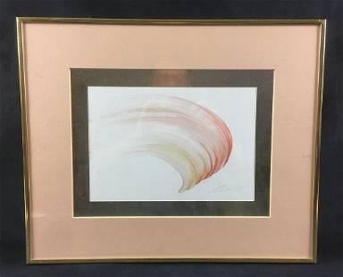 Thomson Red Brush Stroke Painting