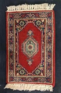 Vintage Mini Hand Woven Afghan Wool Rug