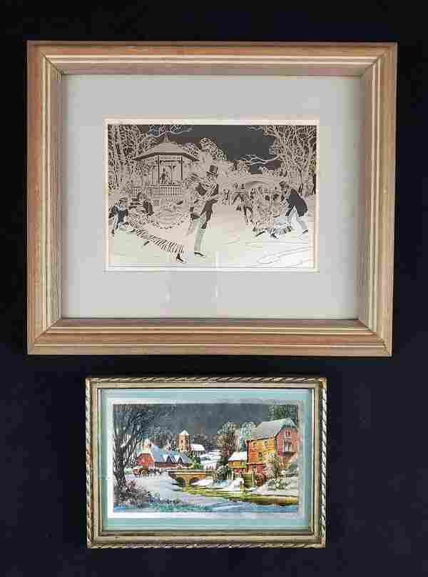Vintage Silver Etchings by Franklin Mint and Norman