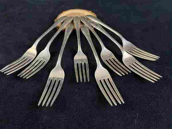 """Vintage 1940's Gorham Sterling Silver """" Lyric """" Forks"""