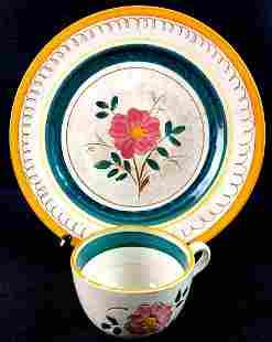 "2 Piece Stangl Pottery of Trenton N.J ""Garden Flower"""