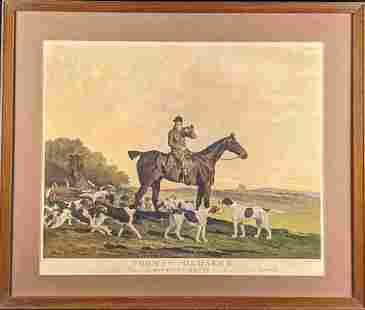 Framed Thomas Oldaker Huntsman To The Berkeley Hounds
