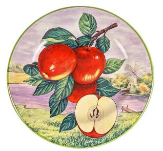 Vintage Villa D'este Italian Apple Plate