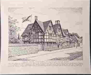 Vintage Hall's Croft John Mortlock Print