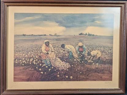 Jack Deloney Framed LE River Bottom Cotton Print