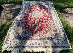 """50"""" x 82"""" Hand-Knotted Red And Blue Afghan Wool Rug"""