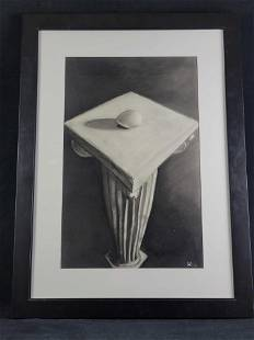 Original Charcoal Drawing By Stephen Lewis