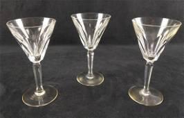 Three Waterford Crystal Water Goblets Sheila Cut F