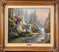 Signed & Numbed Thomas Kinkade Forest Chapel Sold Out