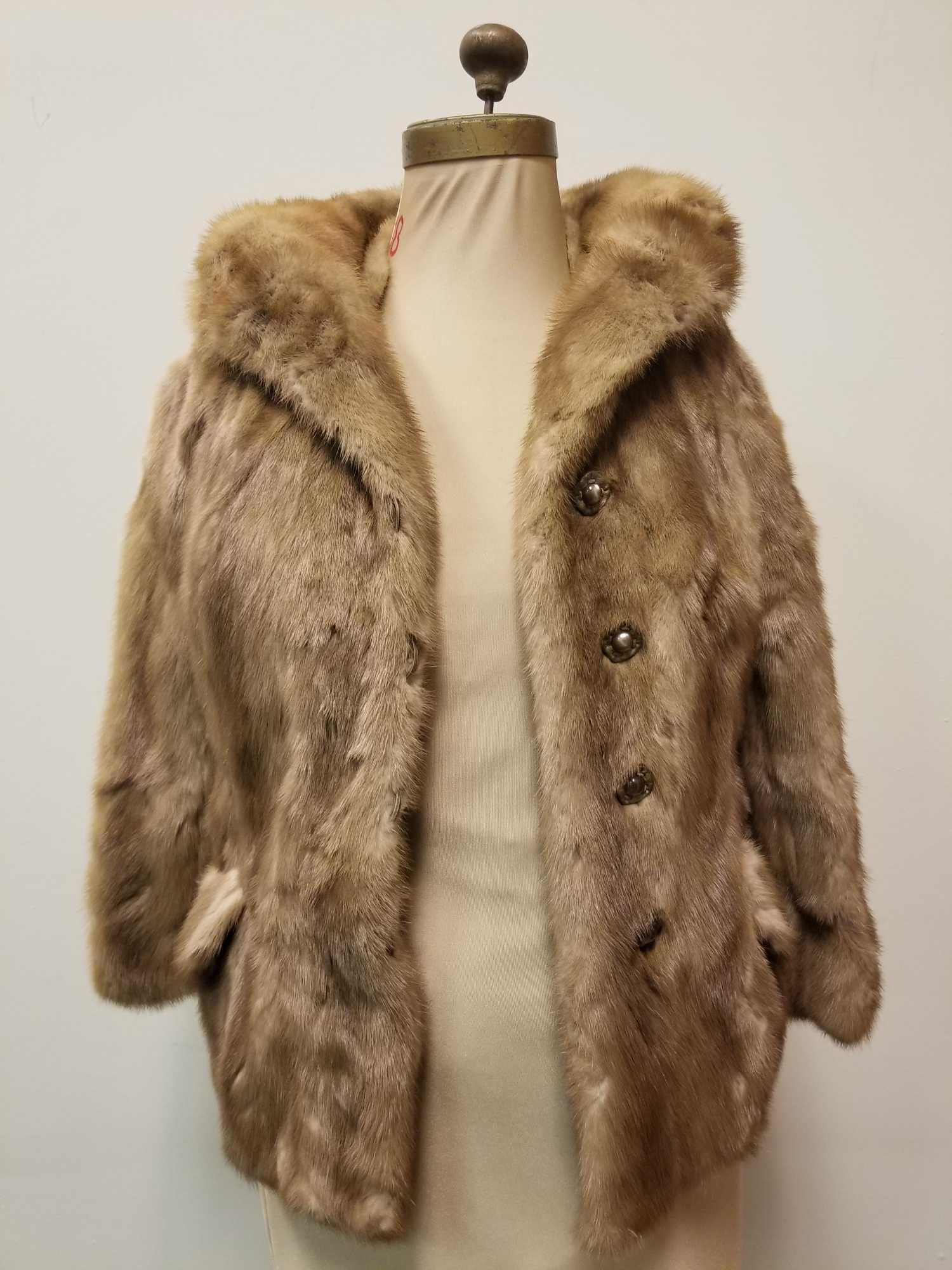 Vintage Brown Mink Fur Coat by Marcy's Furs Union Grove