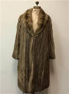 Heavenly Worngolden Sable Fur Coat Jacket Vintage