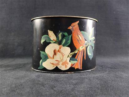 Oval Cardinal Toleware Tin Planter Footed