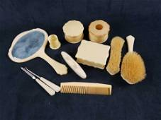 Vintage Art Deco French Ivory Brand Celluloid Grooming