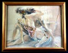 """""""Embrace"""" by Gary Benfield Serigraph Framed"""