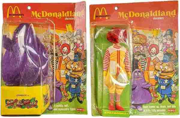 Vintage Remco McDonaldland Ronald & Grimace Dolls