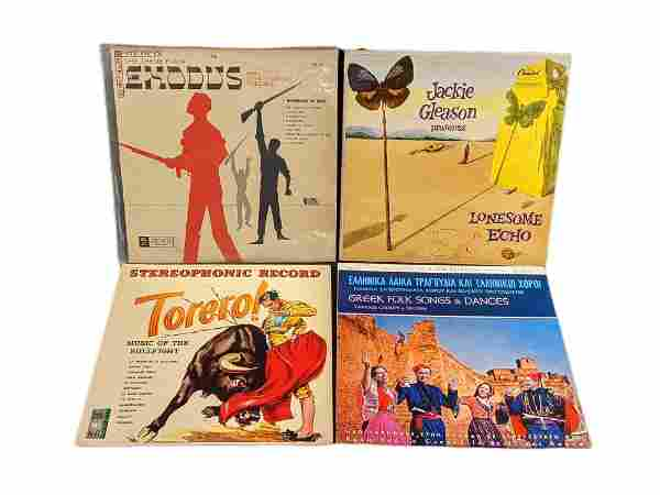 Vinyl LP Records Jackie Gleason Exodus Greek Folk Songs