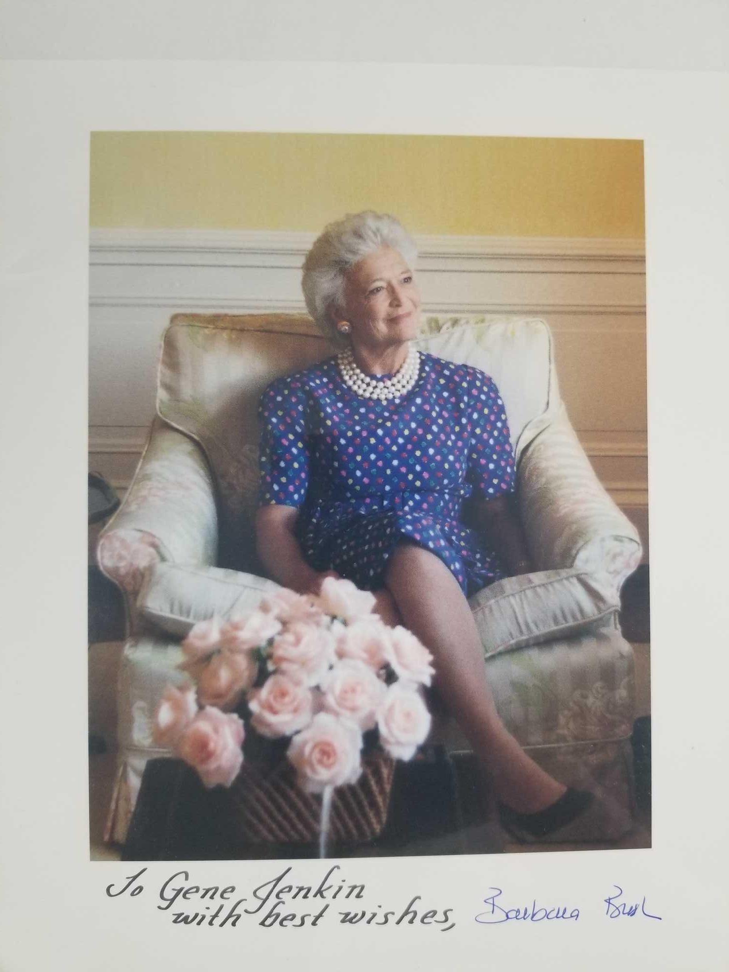 Signed Photographs of Barbara Bush