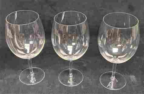 Three Glass Red Wine Glasses