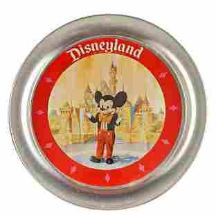 Rare Vintage Disneyland Souvenir Metal Tray Mickey