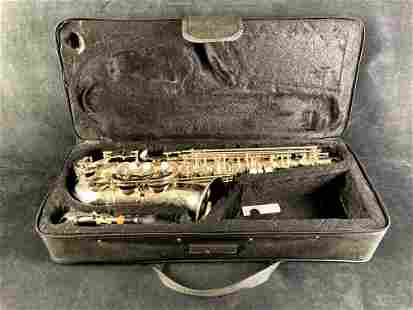 Lazarro Silver Saxophone and Carrying Case