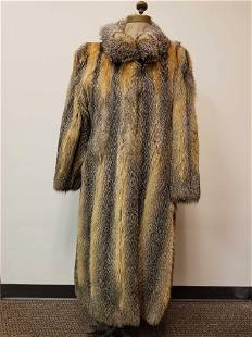 Full Length Red Cross Fox Fur Coat