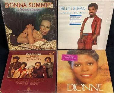4 Vintage R&B Vinyl LP Records Billy Ocean Dionne