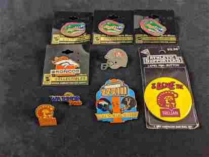 Lot Of Eight Go Team Sports Pins