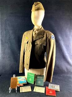 World War II Uniform and Document Set 9th Service