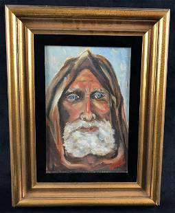 Old Man Portrait Oil Painting