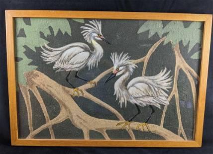 Original Sand Bird Sand Painting