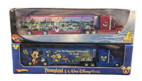 2 Disney World Disney Land Hot Wheels