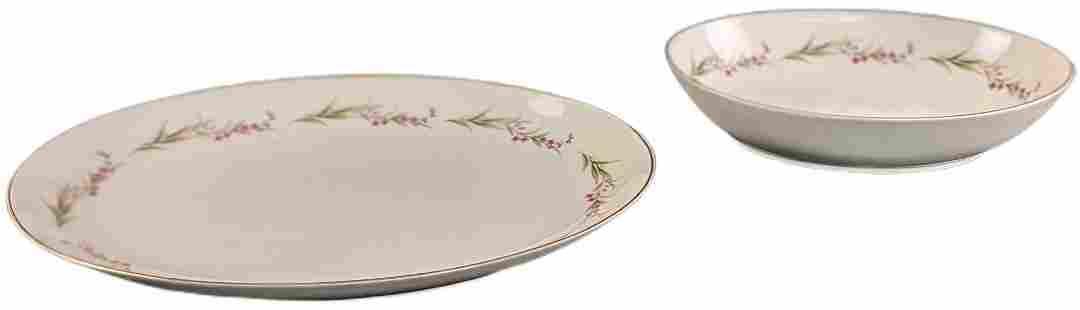 2 Prestige Fine China Of Japan Oval Serving Platter &