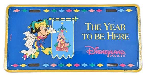 5th Anniversary Disneyland Paris License Plate